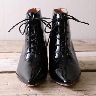 オゥバニスター(AU BANNISTER)のWM様専用◆新品未使用タグ付き♡au bannisterエナメルショートブーツ(ブーツ)