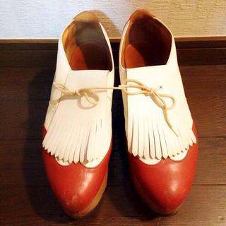 ヴィヴィアンウエストウッド(Vivienne Westwood)の英国オーダー ロッキンホースゴルフ レア(ローファー/革靴)
