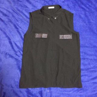 ジーユー(GU)のシースルーシャツ(ノースリーブ)(シャツ/ブラウス(半袖/袖なし))