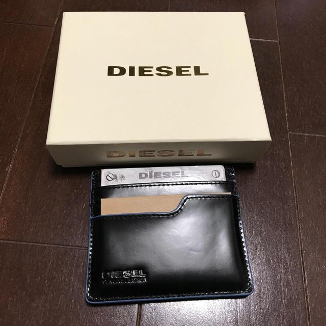 DIESEL(ディーゼル)のディーゼル カードケース黒×青 メンズのファッション小物(名刺入れ/定期入れ)の商品写真