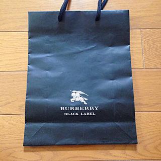 バーバリーブラックレーベル(BURBERRY BLACK LABEL)の未使用 BURBERRY BLACK LABEL 紙袋(ショップ袋)