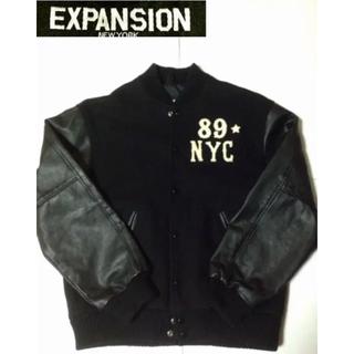 エクスパンション(EXPANSION)のエクスパンション:EXPANSION 袖レザー メルトン スタジャン ジャケット(スタジャン)