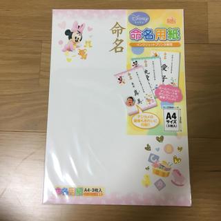 ディズニー(Disney)の赤ちゃん 命名紙 可愛い出生届セット(命名紙)