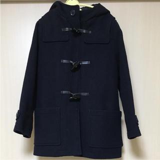 ジーユー(GU)のGU ダッフルコート 紺色 130cm(コート)