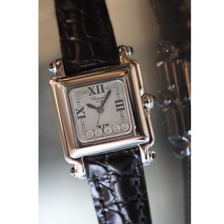 ショパール(Chopard)の美品✨ショパール chopard ハッピースポーツ 5Pダイヤ(腕時計)
