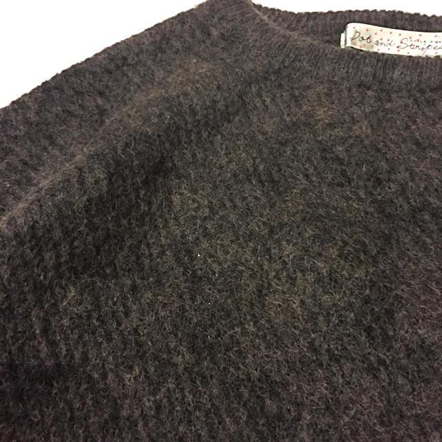 Dot&Stripes CHILDWOMAN(ドットアンドストライプスチャイルドウーマン)のCHILD WOMANのモスグリーンのセーター レディースのトップス(ニット/セーター)の商品写真