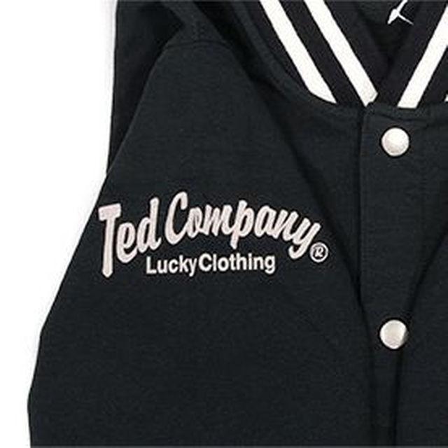 テッドマン/スエットスタジャン/黒/tdswj-400/エフ商会 メンズのジャケット/アウター(スタジャン)の商品写真