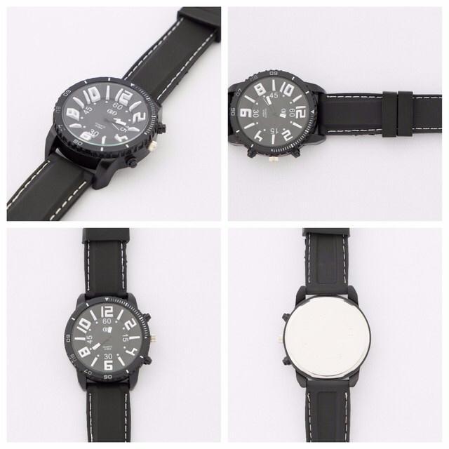 ペア可能◎デザインウォッチ!ブラック単品 メンズの時計(腕時計(アナログ))の商品写真