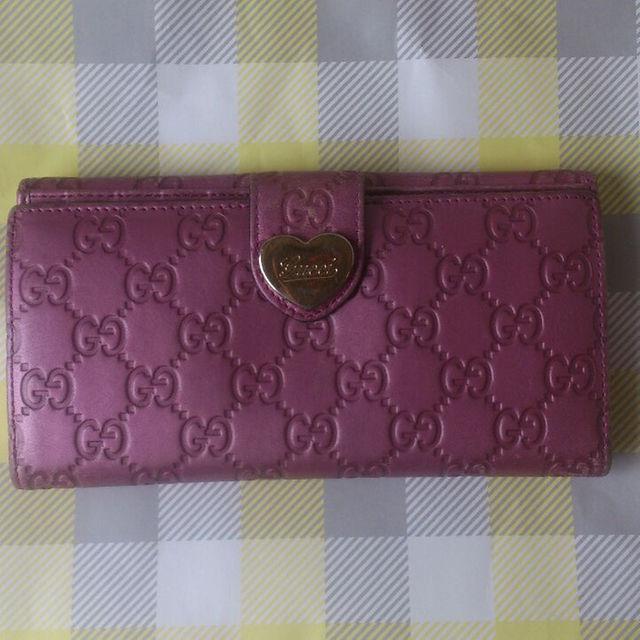 Gucci(グッチ)の【正規品】グッチ ●ピンクの財布 レディースのファッション小物(財布)の商品写真