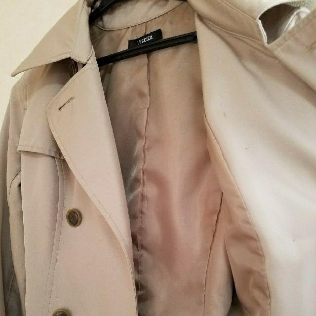 Luccica(ルチカ)のLUCCICA ルチカ トレンチコート ベージュ ベルト付 9号 レディースのジャケット/アウター(トレンチコート)の商品写真