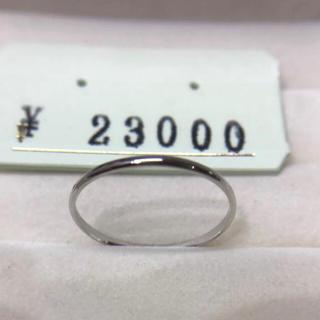 . pt900  新品  22号 男女兼用  お揃いリングにも 安心の日本製(リング(指輪))