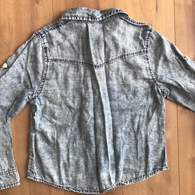 しまむら(シマムラ)のしまむら ケミカルシャツ キッズ/ベビー/マタニティのキッズ服 女の子用(90cm~)(ブラウス)の商品写真