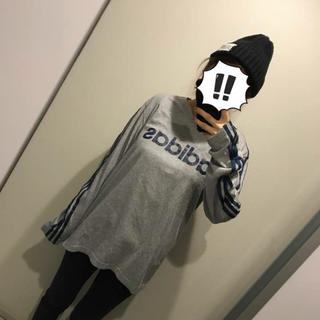 アディダス(adidas)の【adidas】ブランドロゴ入りカットソー(Tシャツ(長袖/七分))