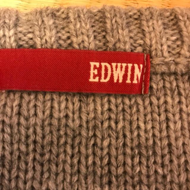 EDWIN(エドウィン)の授乳服 ニット ジッパー付き グレー M〜Lサイズ 犬印 EDWIN キッズ/ベビー/マタニティのマタニティ(マタニティトップス)の商品写真