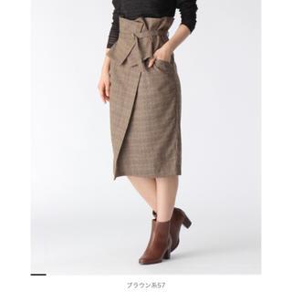 ミスティウーマン(mysty woman)のグレンチェック ベルト付き 2wayスカート(ひざ丈スカート)