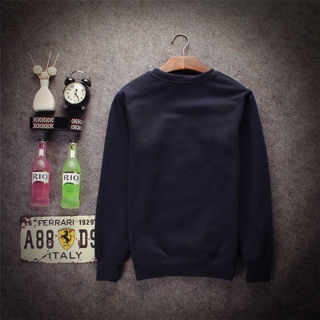 ◆ インディアン風 おじさん プリント ラウンドネック セーター 黒 L メンズのトップス(ニット/セーター)の商品写真