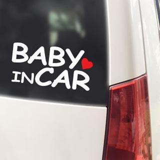 BABY IN CAR ハート付/ステッカー(白)ベビーインカー(その他)