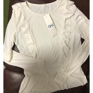 ジーユー(GU)の新品♡GU♡カットソー♡フリル♡ロンT(Tシャツ(長袖/七分))