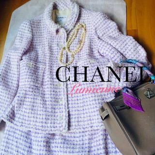 シャネル(CHANEL)の瑠璃子様専用シャネルツイードスーツ (スーツ)