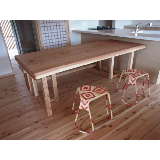 国産ヒノキ☆無垢のテーブル☆ インテリア/住まい/日用品の机/テーブル(ダイニングテーブル)の商品写真