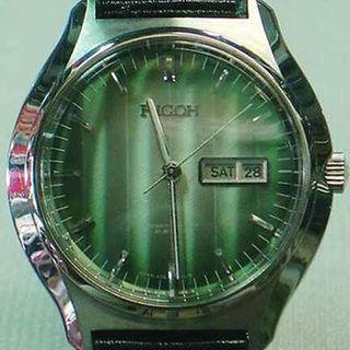 リコー(RICOH)のリコー丸型アンティーク時計☆縦5本ライングラデーション(その他)