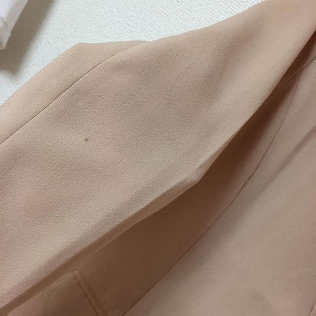 テーラードジャケット ピンクベージュ レディースのジャケット/アウター(テーラードジャケット)の商品写真
