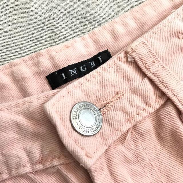 INGNI(イング)のINGNI ダメージショートパンツ ピンク Sサイズ イング レディースのパンツ(ショートパンツ)の商品写真