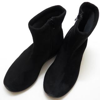 アルコペディコ(ARCOPEDICO)の【新品】アルコペディコ L8ショートブーツ サイズ 38(24.5cm) 黒 (ブーツ)