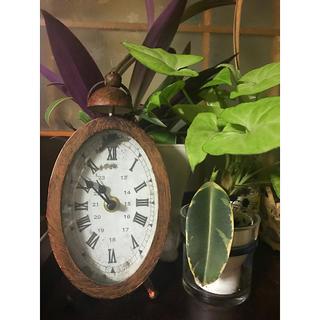 インテリア アンティーク風 時計 雑貨 ガーデニングにも(置時計)