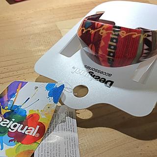 デシグアル(DESIGUAL)の新品・未使用!Desigual デシグアル バングル レッド系(ブレスレット/バングル)