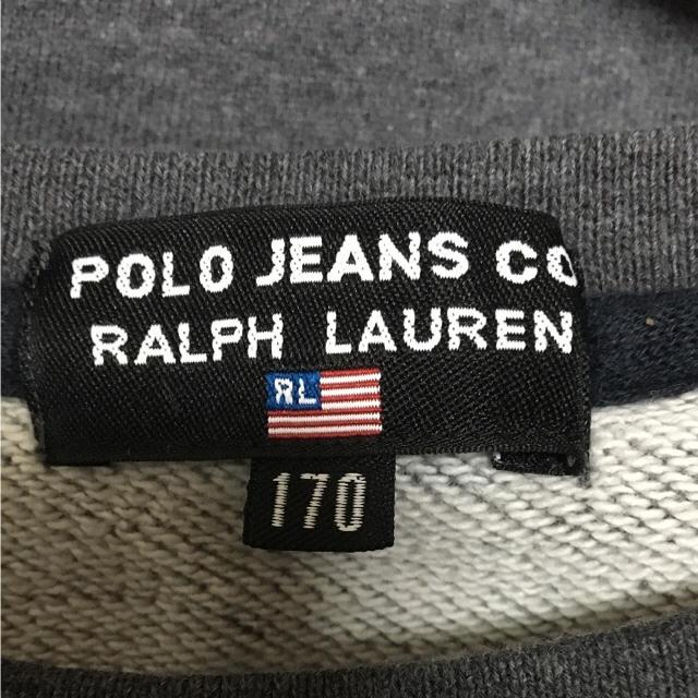 POLO RALPH LAUREN(ポロラルフローレン)の90's ラルフローレン スウェット トレーナー ビッグロゴ グレー 紺 赤 メンズのトップス(スウェット)の商品写真