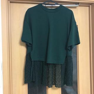 コンバース(CONVERSE)の美品 コンバーストウキョウ×クラネ 裾レースカットソー(カットソー(半袖/袖なし))