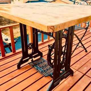 【SALE】【一枚板】欅+ironダイニングテーブル(ダイニングテーブル)