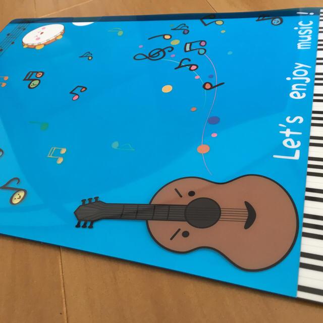 楽器キャラでかわいいクリアファイル ハンドメイドの文具/ステーショナリー(その他)の商品写真