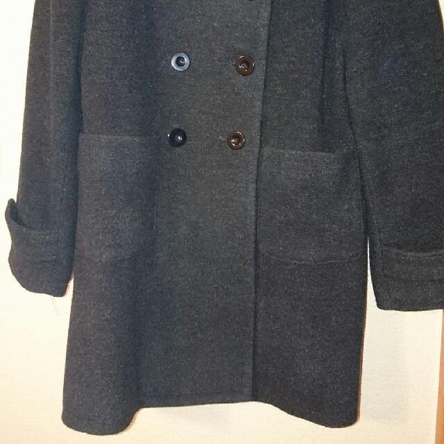 グレー   ノーカラーコート レディースのジャケット/アウター(ロングコート)の商品写真