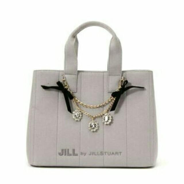 JILL by JILLSTUART(ジルバイジルスチュアート)のジュエルリボントートグレー レディースのバッグ(トートバッグ)の商品写真