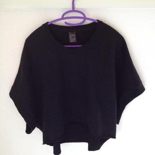 ダブルスタンダードクロージング(DOUBLE STANDARD CLOTHING)のダブルスタンダードクロージング❤︎スウェット生地 黒(トレーナー/スウェット)