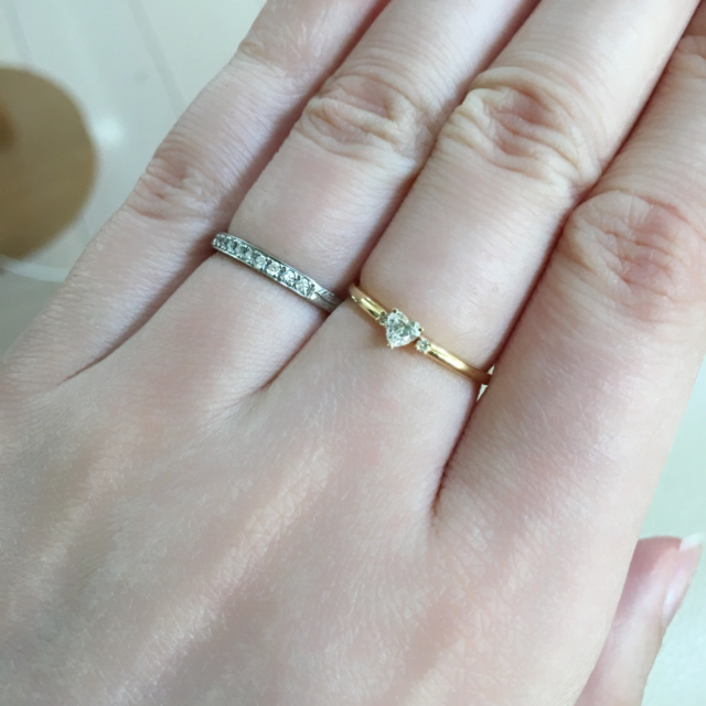 PonteVecchio(ポンテヴェキオ)のめりーぷ様ポンテヴェキオ K18ハートシェイプダイヤモンドリング レディースのアクセサリー(リング(指輪))の商品写真