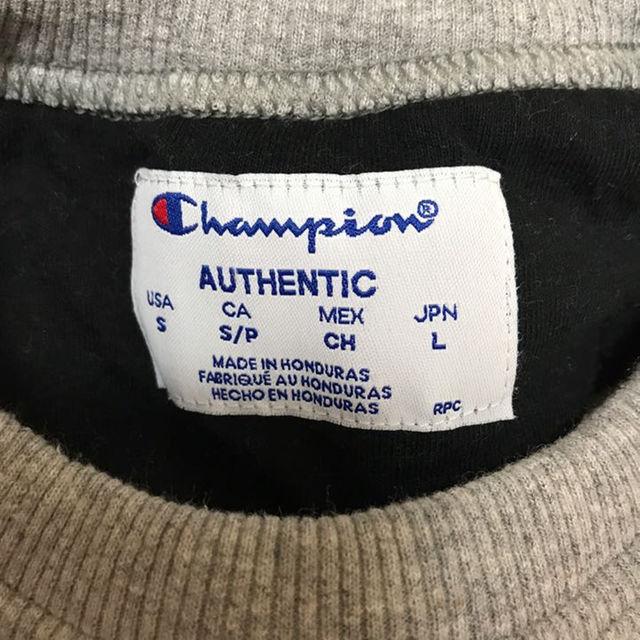 Champion(チャンピオン)のchampion トレーナー グレー Lサイズ  交渉可 メンズのトップス(スウェット)の商品写真