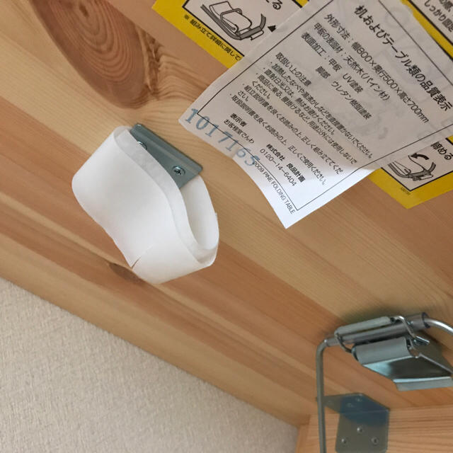 MUJI (無印良品)(ムジルシリョウヒン)のパイン材テーブル・折りたたみ式 幅80×奥行50×高さ70cm. インテリア/住まい/日用品の机/テーブル(折たたみテーブル)の商品写真
