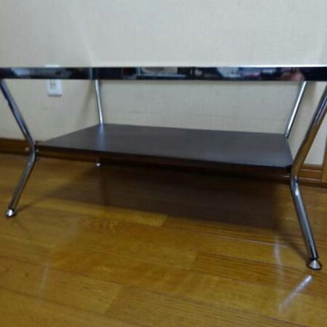 【定価1万2千円】オシャレなガラステーブル 使用1年未満 インテリア/住まい/日用品の机/テーブル(ローテーブル)の商品写真