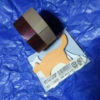 ムジルシリョウヒン(MUJI (無印良品))の【未使用】無印良品 付箋&マスキングテープ2本(その他)