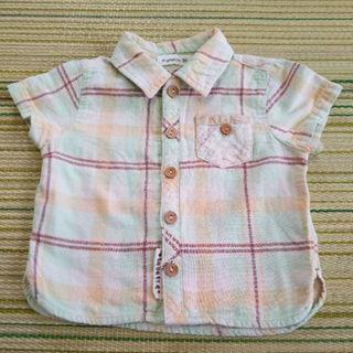 ビケット(Biquette)のビケット ガーゼ生地 半袖シャツ 80(その他)