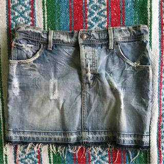 ファイブセブンティーファイブデニム(575DENIM)の575denim ダメージデニムスカート サイズ26(ミニスカート)