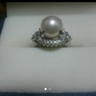 値下げ❗真珠、ダイヤモンド入りリング(リング(指輪))