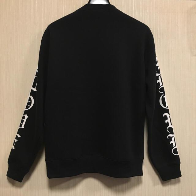 サイド 英文字 プリント ビックシルエット スウェット トレーナー 黒 ブラック メンズのトップス(スウェット)の商品写真