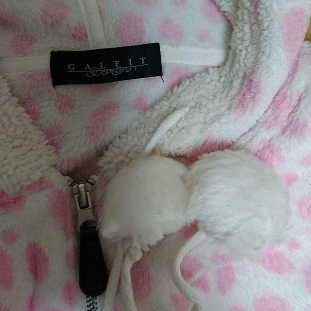 フリース パーカー ピンク Lサイズ レディースのルームウェア/パジャマ(ルームウェア)の商品写真