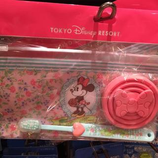 ミニーマウス(ミニーマウス)のミニーマウス☆歯磨きセット☆ディズニーリゾート限定品☆お土産袋付き(その他)