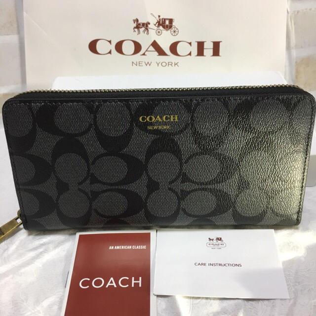 76e5554c9c7e COACH - セール❣ 新品コーチ メンズ長財布 F74597 ラウンドファスナー ...