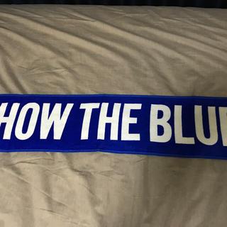 ヨコハマディーエヌエーベイスターズ(横浜DeNAベイスターズ)の横浜 DeNA ベイスターズ SHOW THE BLUE タオル プロ野球グッズ(応援グッズ)